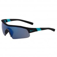 Очки Nike Show X1 R Matte Black/Turbo Green + Grey /Sky Blue Flash Lens