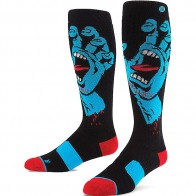 Носки высокие Stance Snow Screaming Hand Snow Black