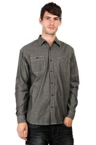 Рубашка Huf Vintage Chambray Work Shirt Black