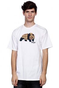 Футболка Enjoi Spectrum Plaid Panda White