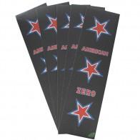 Шкурка для скейтборда для скейтборда Zero American Mob (5-Pack) Black /White