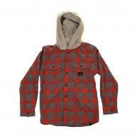 Рубашка в клетку детская детская Quiksilver Snap Up Barn Red