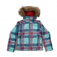 Куртка детская Roxy Jetty Ski Daya Plaid Blue Radi