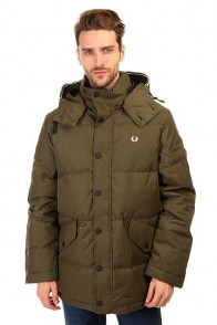 Пуховик Fred Perry Down Field Jacket Olive