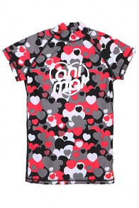 Гидрофутболка женская Animal Bowie Rash Vest Black/Grey