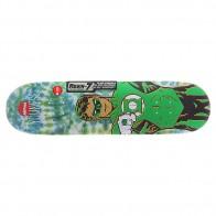 Дека для скейтборда для скейтборда Almost S5 Youness Green Lantern Tiedye R7 Green 31.7 x 8.25 (21 см)