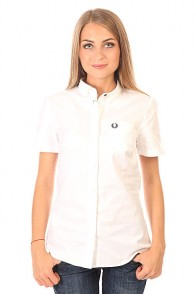 Рубашка женская Fred Perry Basket Weave Shirt White