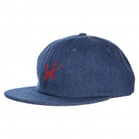 Бейсболка Huf Denim Script 6 Panel Indigo
