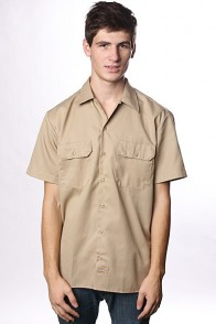 Рубашка Dickies Short Sleeve Work Shirt Khaki
