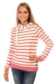 Толстовка классическая женская Roxy Sharingsong J Otlr Adelaide Stripe Comb Pink