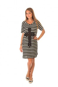 Платье женское Emblem Dress Line E26 Black/White