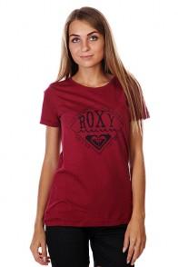 Футболка женская Roxy Basicteed Tees Red Plum