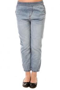 Штаны прямые детские Roxy Make Pant Med Blue Wash