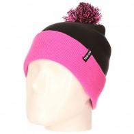 Шапка TrueSpin Neon Pom 2 Tone Black Neon Pink