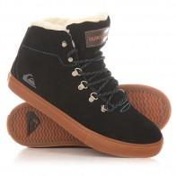 Кеды кроссовки утепленные детские Quiksilver Youth Jax Black/Brown