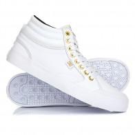 Кеды кроссовки высокие женские DC Evan Hi White/Gold