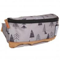 Сумка поясная The Pack Society Bum Bag Grey Tree Allover