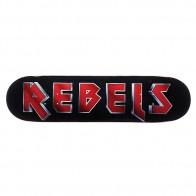 Дека для скейтборда для скейтборда Rebels Maiden Fiberglass Black 31.75 x 8.1 (20.6 см)