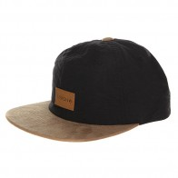 Бейсболка с прямым козырьком Nixon Wrangler Snapback Hat Black/Saddle
