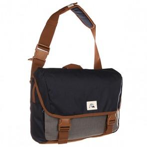 Сумка через плечо Quiksilver Carrier Ii Castlerock, 1140765,  Quiksilver, цвет коричневый, серый, синий