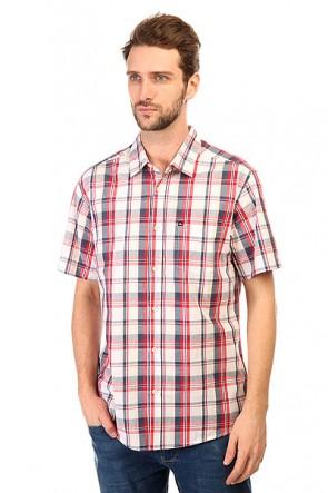 Рубашка в клетку Quiksilver General Pat Wvtp General Pat American, 1143656,  Quiksilver, цвет белый, красный, синий