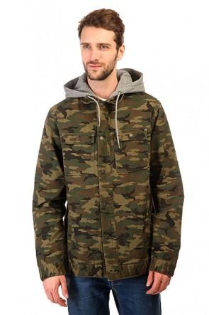 Куртка DC Kalis Jacket Kalis Woodland Camo, 1143691,  DC Shoes, цвет зеленый, коричневый, черный