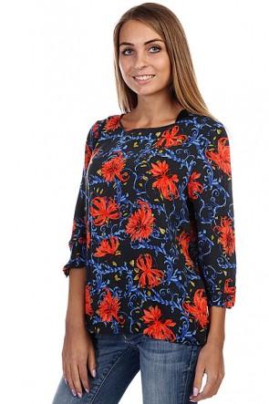 Блузка женская Insight Moment Top Indigo Viney, 1126262,  Insight, цвет красный, синий, черный