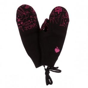 Варежки женские Zoo York I Love Zy Black, 1129622,  Zoo York, цвет фиолетовый, черный
