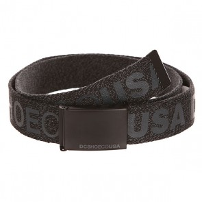 Ремень DC Chinook Tx Black Heather, 1140981,  DC Shoes, цвет серый, черный