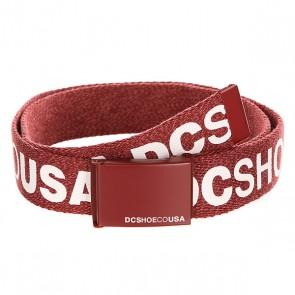 Ремень DC Chinook Tx Heather Syrah, 1140984,  DC Shoes, цвет бордовый