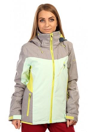 Куртка  женская Roxy Sassy J Snjt Heritage Heather, 1135978,  Roxy, цвет голубой, желтый, серый