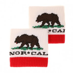 Напульсники Nor Cal Republic Unisex White/Red, 1141140,  Nor Cal, цвет белый, красный