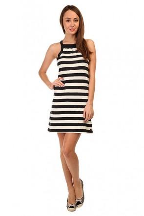 Платье женское Roxy Stranded Ktdr Classic Stripe True, 1144033,  Roxy, цвет белый, черный
