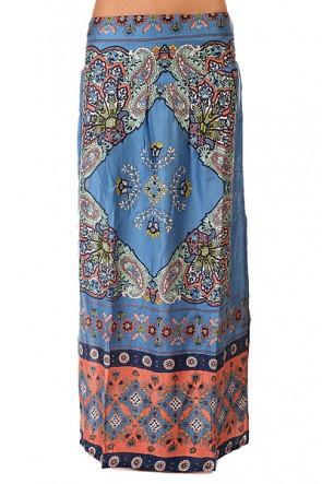 Юбка женская Roxy Lola Agadir Border Combo Blue, 1144045,  Roxy, цвет голубой, мультиколор