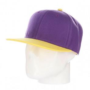 Бейсболка True Spin Tone Blank Snapback Lala, 1090133,  TrueSpin, цвет желтый, фиолетовый