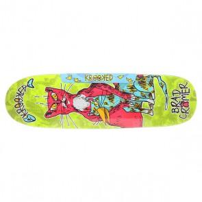 Дека для скейтборда для лонгборда Krooked Cromer Flels Multi 33.04 x 9.35 (23.7 см), 1151229,  Krooked, цвет зеленый, мультиколор