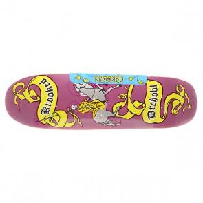 Дека для скейтборда для лонгборда Krooked Drehobl Pale Horse Purple 32.07 x 9.25 (23.5 см), 1151230,  Krooked, цвет мультиколор, фиолетовый