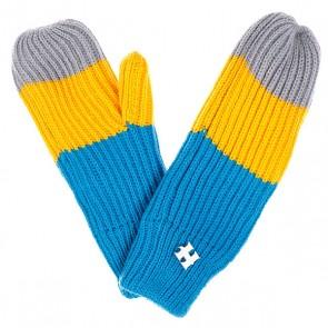 Варежки женские Harrison Beatrice Gloves Yellow/Blue/Grey, 1077886,  Harrison, цвет желтый, серый, синий