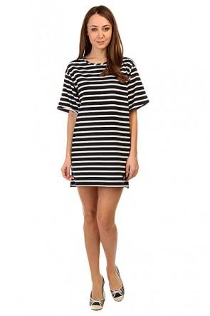 Платье женское DC Loose Dress Str Ktdr Black N White, 1141201,  DC Shoes, цвет белый, черный