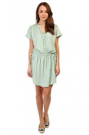 Платье женское Roxy Lucky Ktdr Harbor Gray, 1141202,  Roxy, цвет голубой