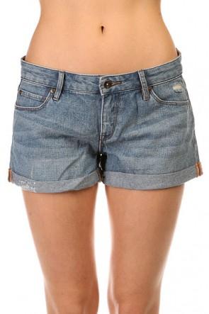 Шорты джинсовые женские Roxy Midtown Dnst Med Blue Wash, 1141220,  Roxy, цвет синий