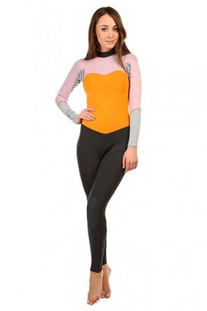 Гидрокостюм (Комбинезон) женский Roxy 3/2mm Xybfull Light Orchid/Fog, 1141239,  Roxy, цвет оранжевый, розовый, серый