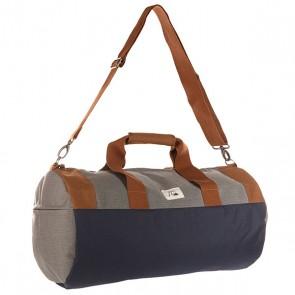 Сумка спортивная Quiksilver Duffle Lugg Castlerock, 1141263,  Quiksilver, цвет коричневый, серый, синий