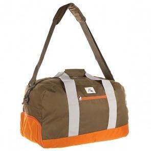 Сумка спортивная Quiksilver Medium Shelter Lugg Forest Night, 1141264,  Quiksilver, цвет зеленый, оранжевый