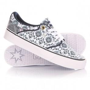 Кеды кроссовки низкие женские DC Mikey Taylor Vulc Sp White/Navy, 1144723,  DC Shoes, цвет белый, синий