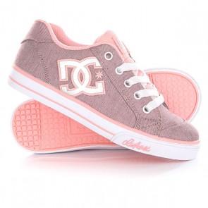 Кеды кроссовки низкие детские DC Chelsea Tx Se Pink/White, 1144728,  DC Shoes, цвет розовый, серый
