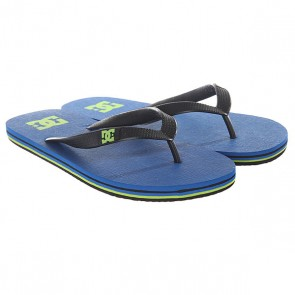 Вьетнамки DC Spray Blue/Yellow, 1146345,  DC Shoes, цвет синий