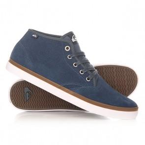 Кеды кроссовки высокие Quiksilver Shorebrksuedmid Shoe Blue/Blue/White, 1156026,  Quiksilver, цвет синий