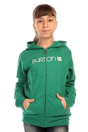 Толстовка классическая детская Burton Her Logo Fz Heather Ultramarine, 1136396,  Burton, цвет зеленый