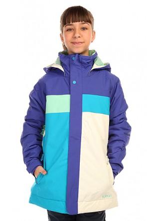 Куртка детская Burton Piper Jacket Sorcerer/Jadeite Cmb, 1136408,  Burton, цвет белый, голубой, фиолетовый